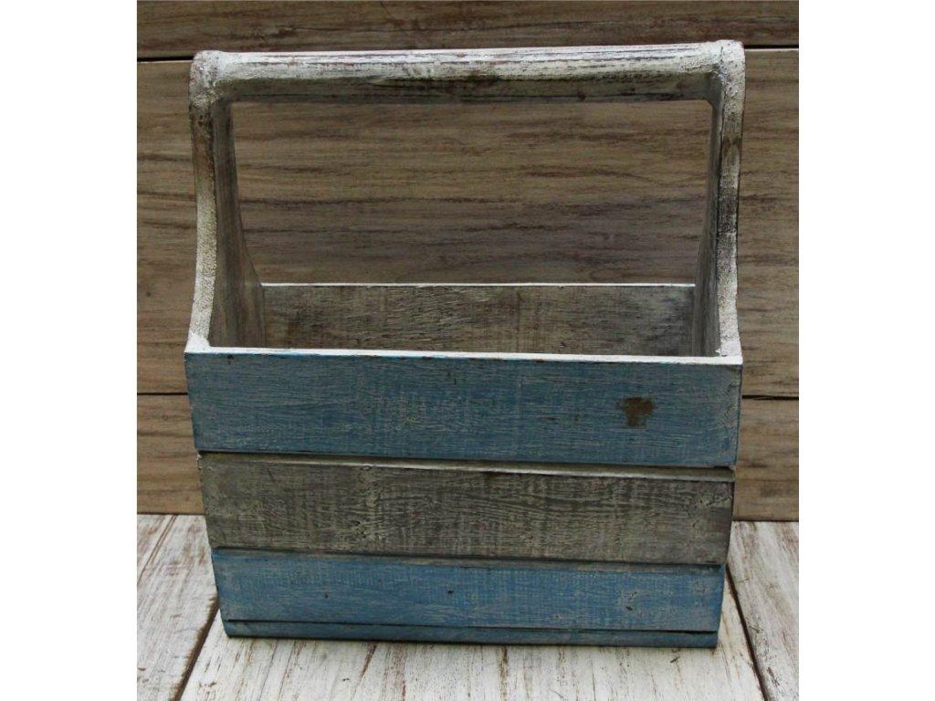 Dřevěný stojan na časopisy model A 16x31x36cm
