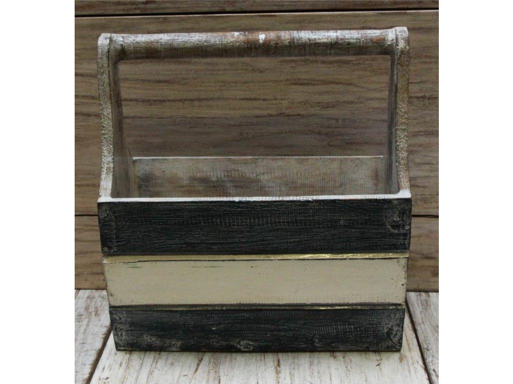 Dřevěný stojan na časopisy model B 16x31x36cm