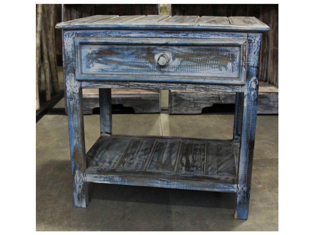 Dřevěný námořnický noční stolek se šuplíkem 50cm