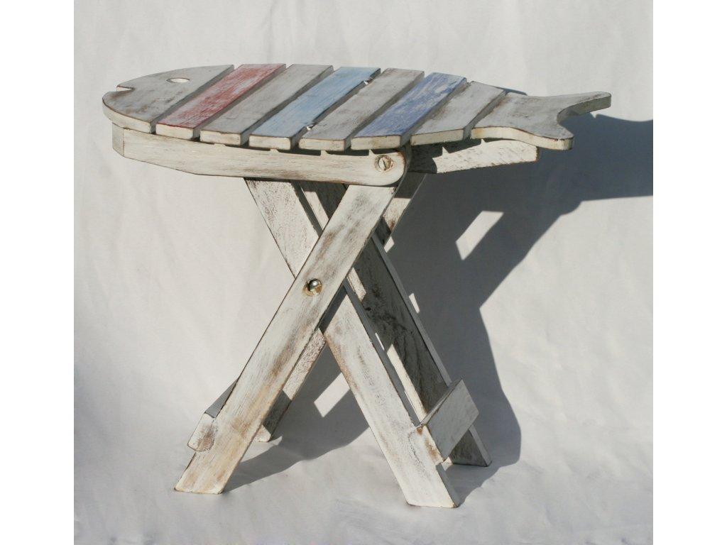 Dřevěná stolička ryba 30cm