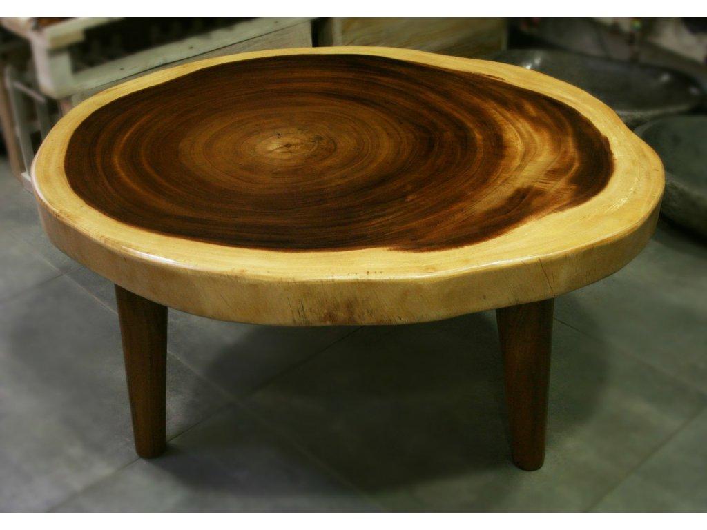 Stůl z masivního dřeva suar 96x77cm, výška 50cm