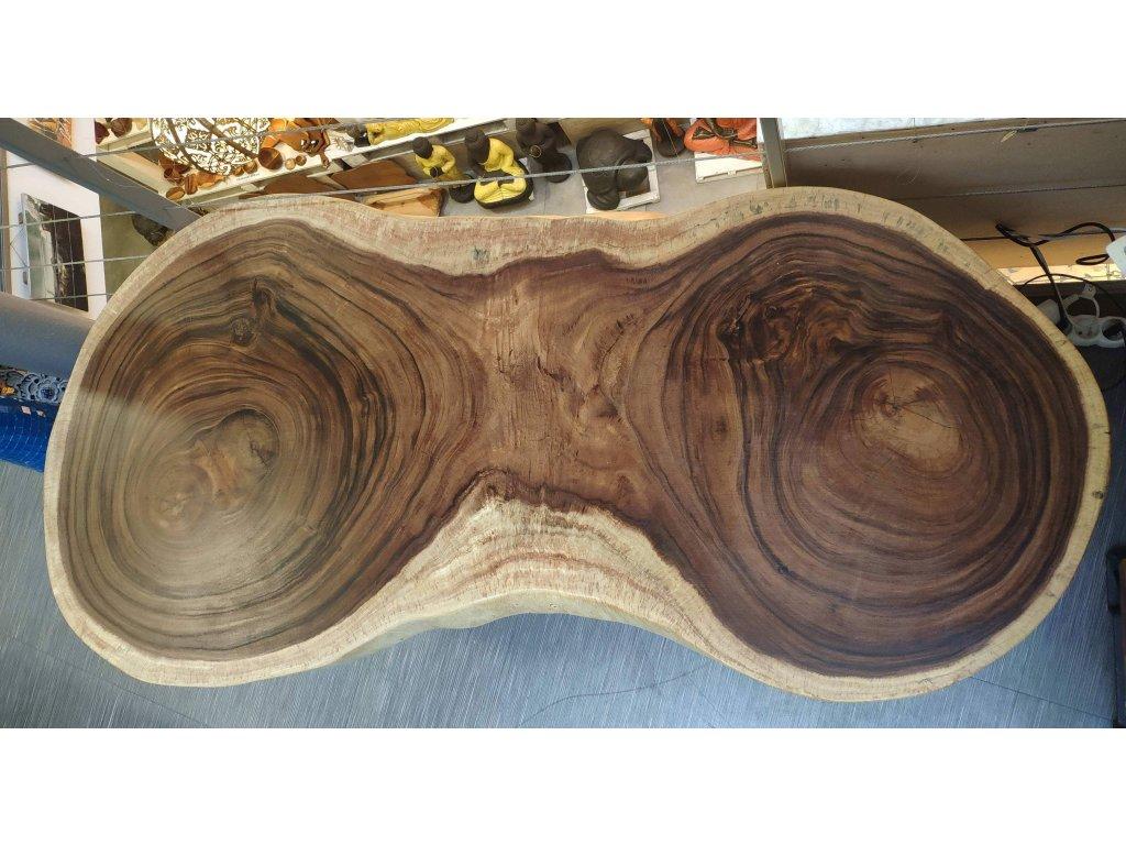 Stůl z masivního dřeva suar 158x78x8cm