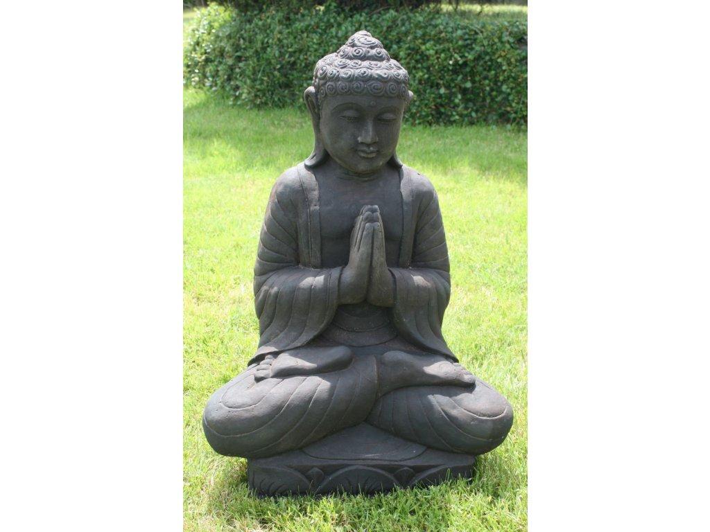 Socha Budha Buddha na lotosovém květu 62cm – model A patina DB