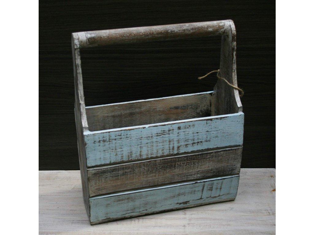 Dřevěný stojan na časopisy model C 16x31x36cm