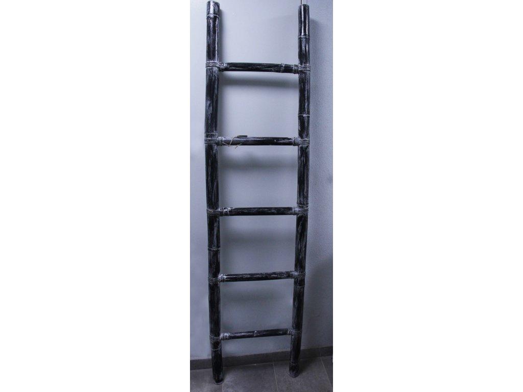 Žebřiny žebřík bambus 200x50cm - černá patina