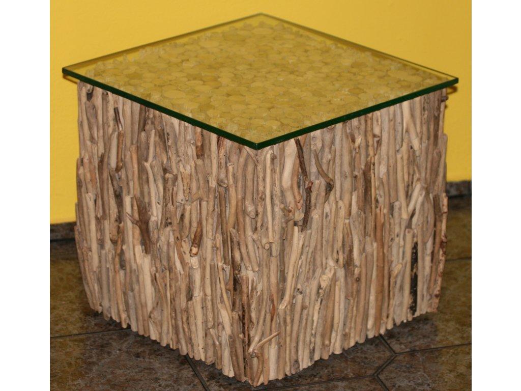 Konferenční stůl z vyplaveného dřeva 40x40cm