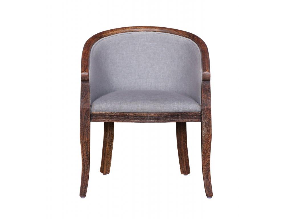 Masivní židle křesílko s polstrováním 60x60x74cm brown grey