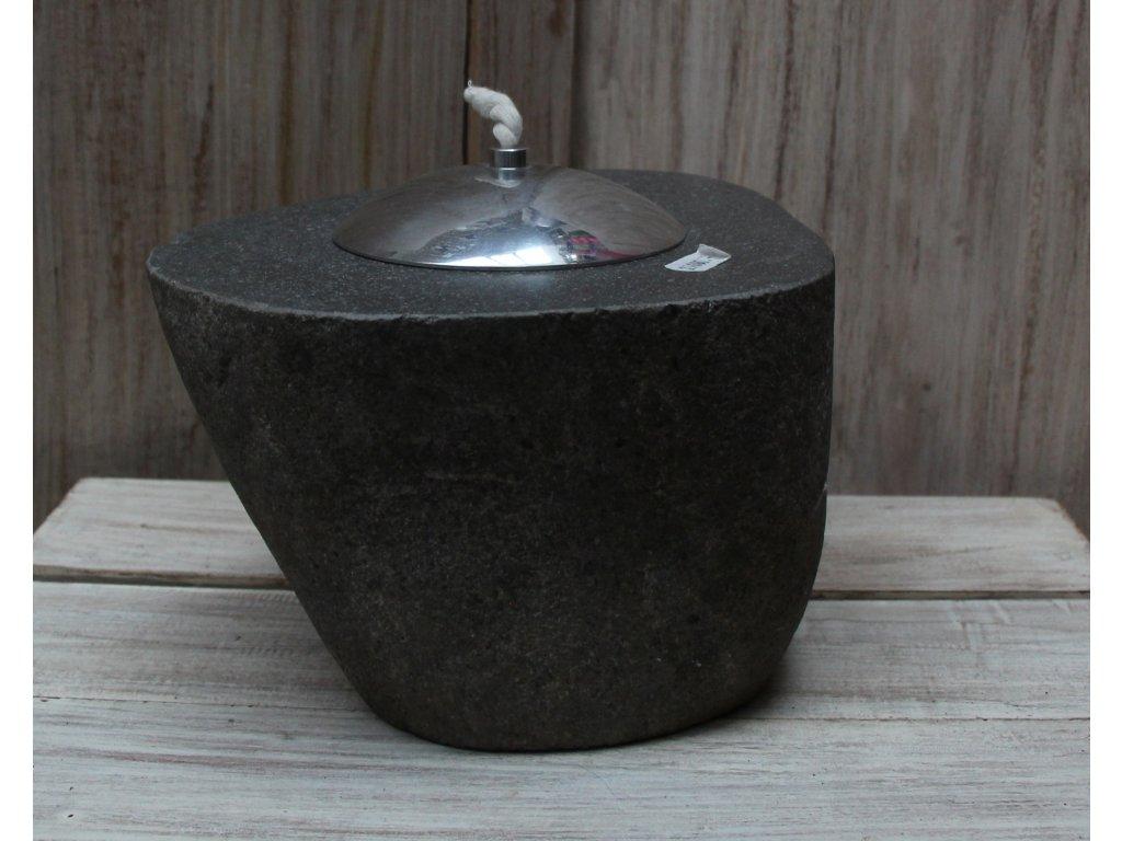 Kamenná olejová lampa lucerna - výška cca 15cm