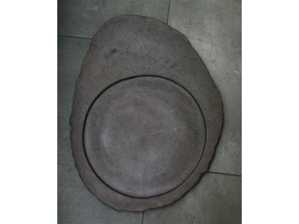 Kuchyňský kamenný talíř - servírovací podnos 48x37cm