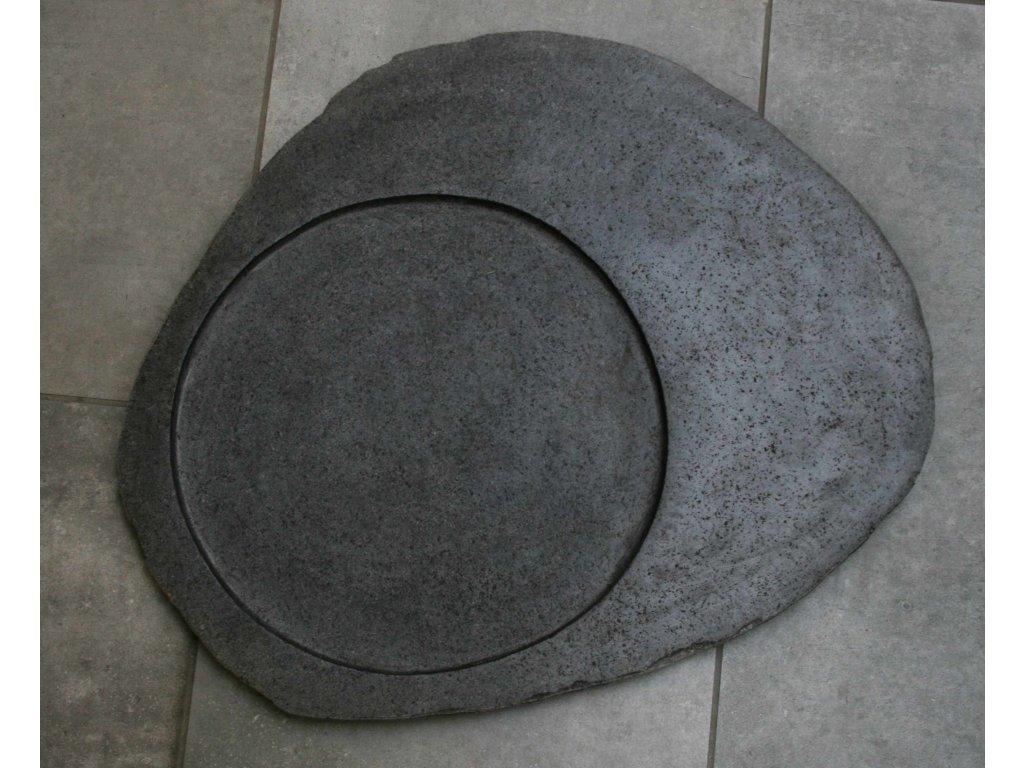 Kuchyňský kamenný talíř - servírovací podnos 47x40cm