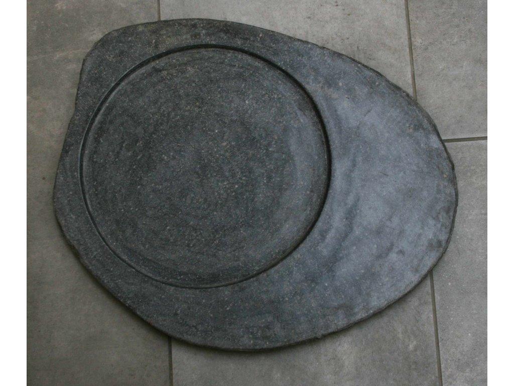 Kuchyňský kamenný talíř - servírovací podnos 48x38cm