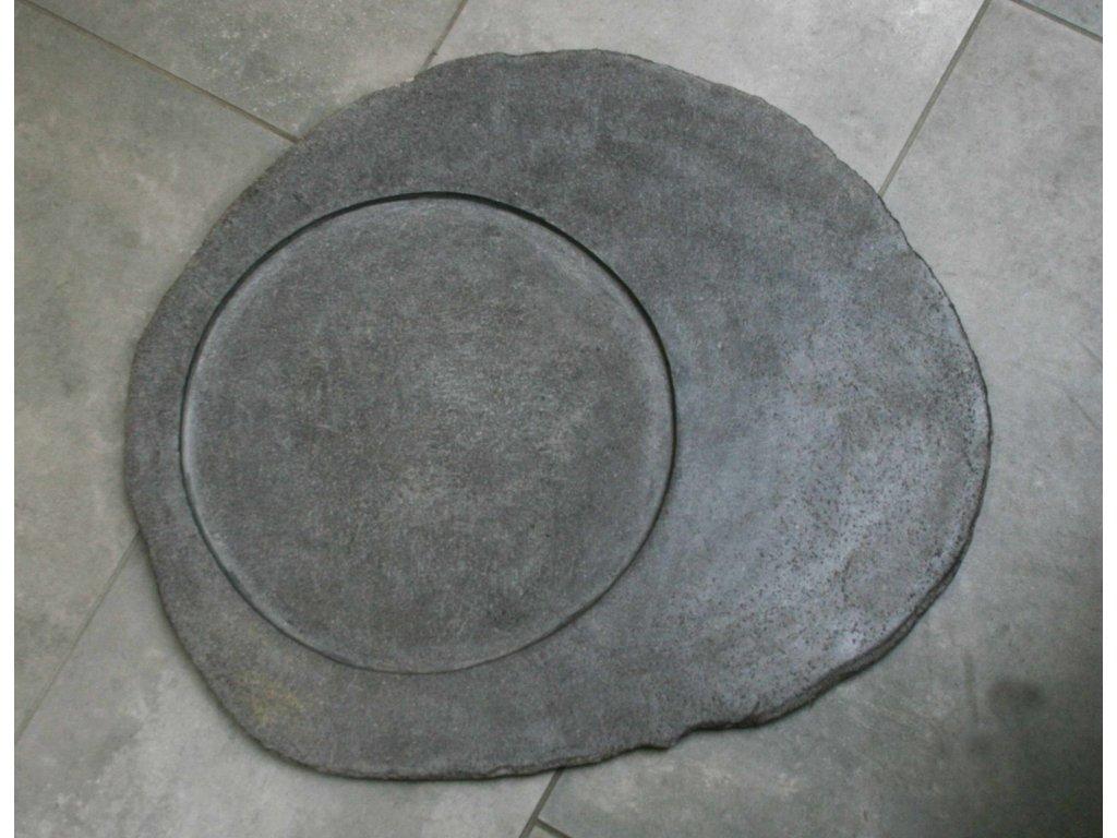 Kuchyňský kamenný talíř - servírovací podnos 53x45cm