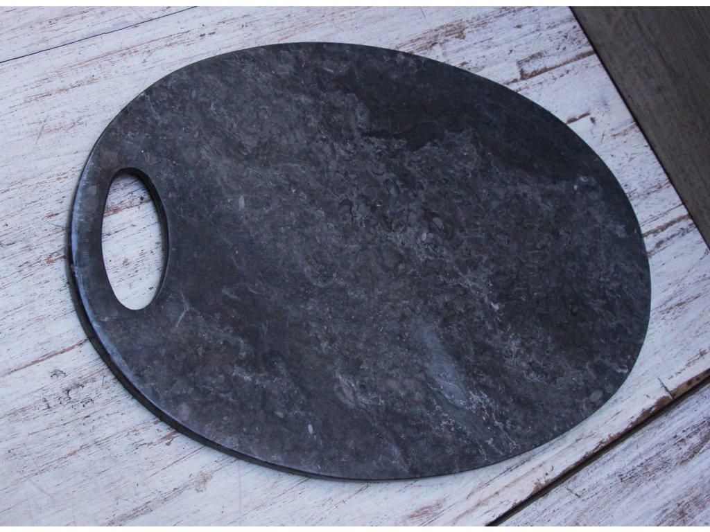 Kuchyňské krájecí prkénko - mramor tmavý 33x23cm