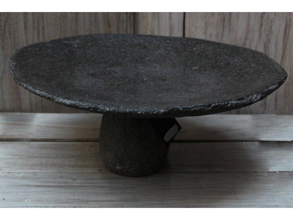 Kamenný podnos s nohou 34x29x14cm
