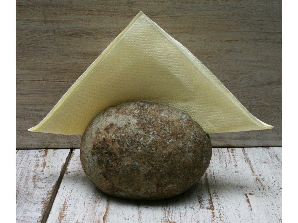 Kamenný držák na ubrousky, vizitky 11x10cm natural
