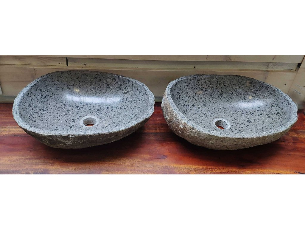 Kamenné umyvadlo - sada DUO dva kusy U14 (47x34cm + 44x35cm)