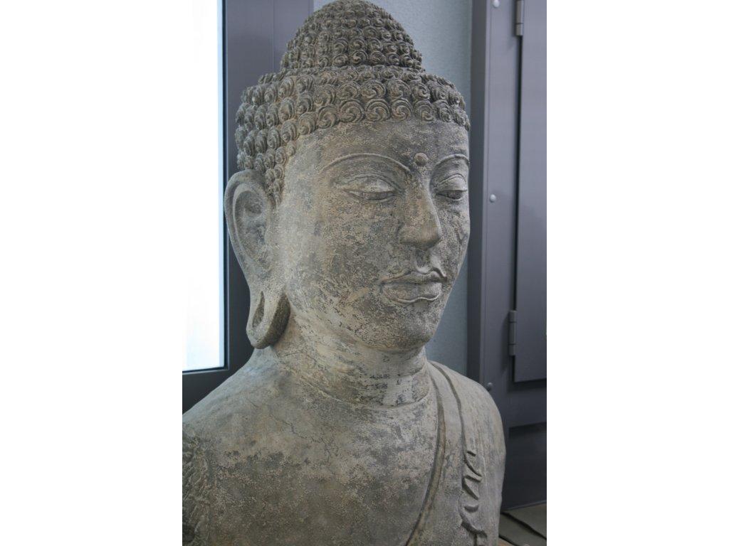 Socha Budha Buddha torzo 100cm patina GREY
