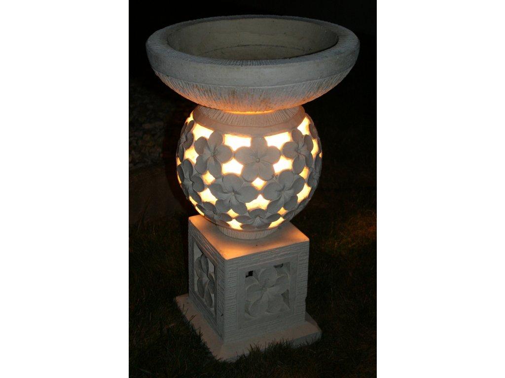 Zahradní lampa s květináčem 70cm (2v1)