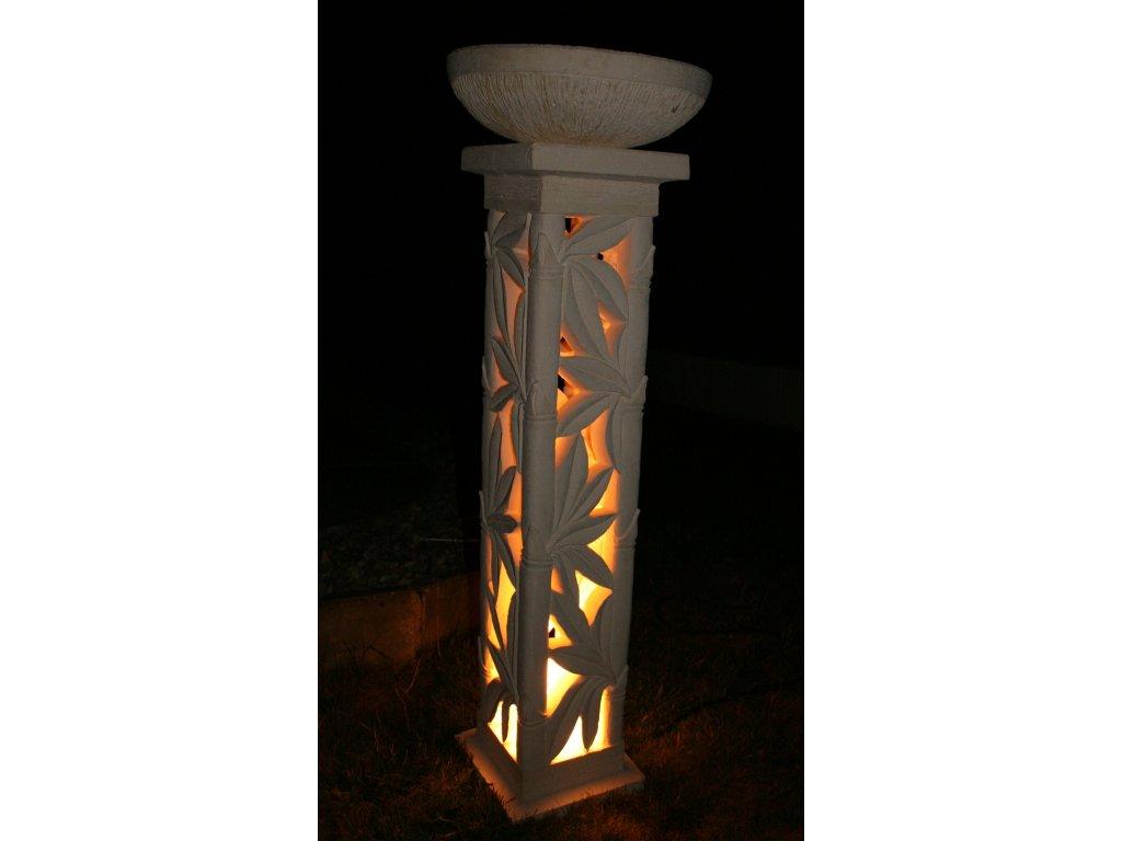 Zahradní lampa s květináčem 125cm (2v1)