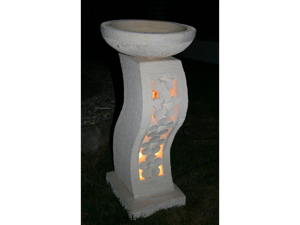 Zahradní lampa s květináčem vlna 85cm (2v1)