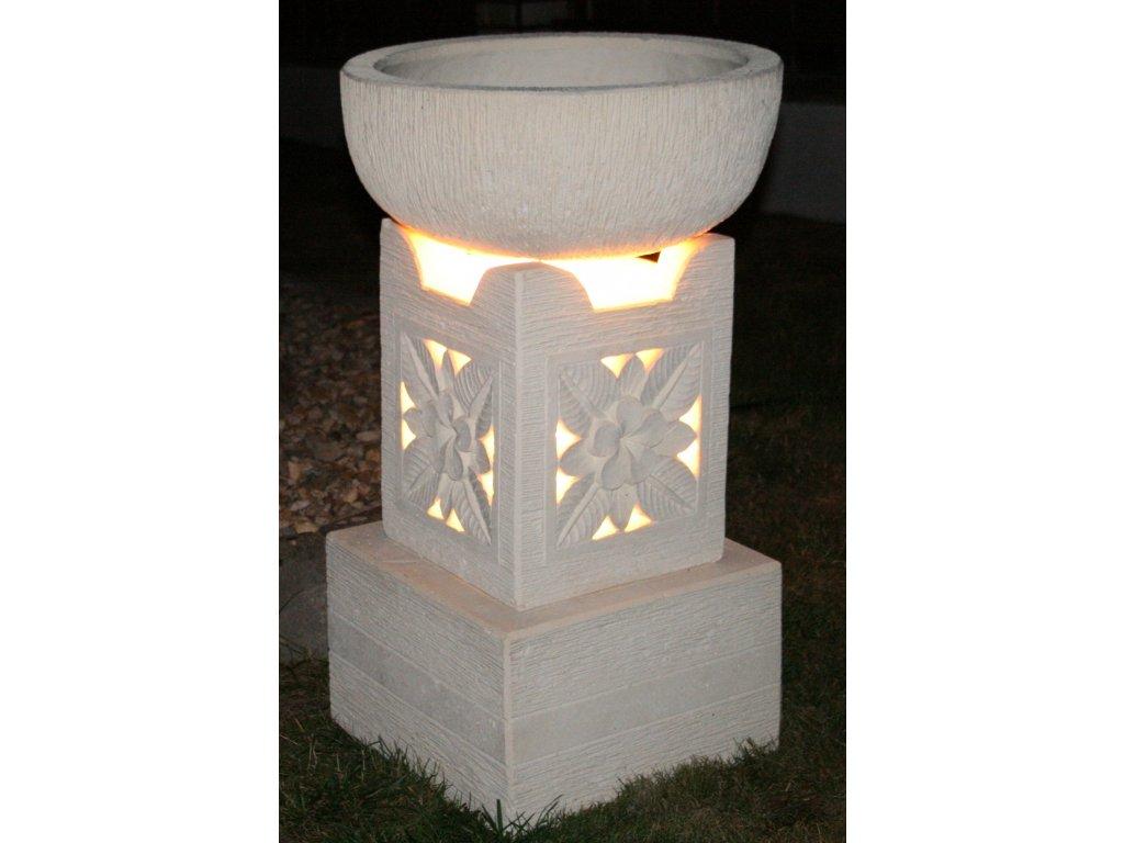 Zahradní lampa s květináčem 85cm (2v1)