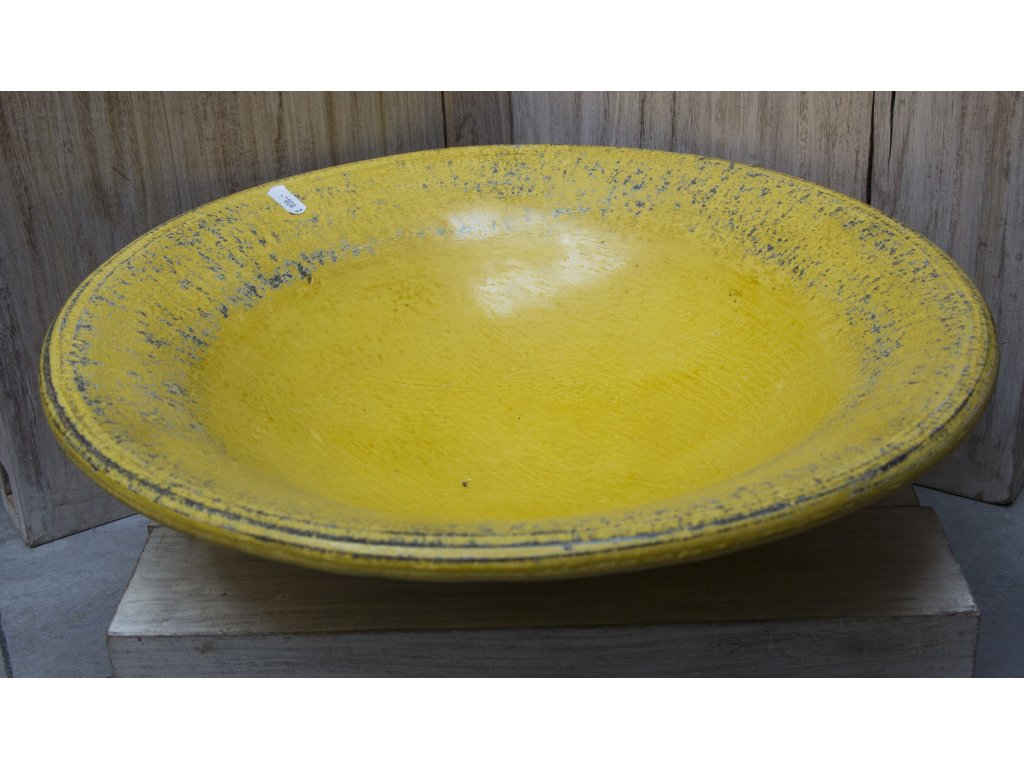 Mísa terakota průměr 30, 45cm žlutá patina