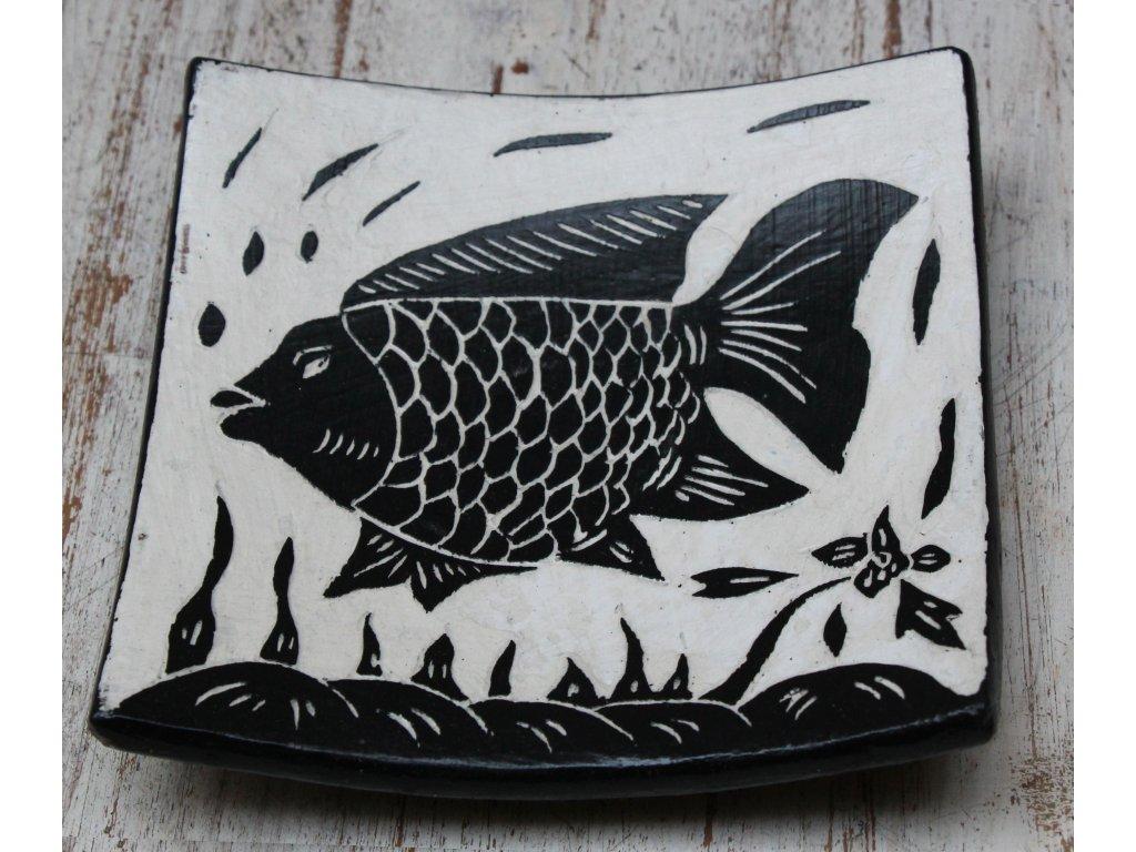 Mísa terakota 15x15cm fish