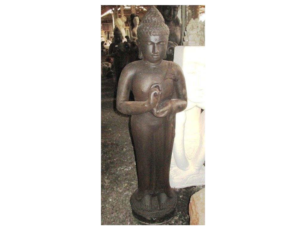 Socha Budha Buddha cakra stojici 120cm patina DB