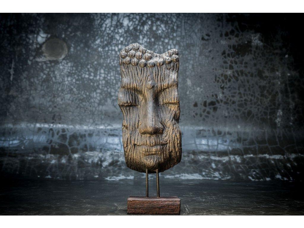 Plastika Budha Buddha face v 70cm podst 20x15cm