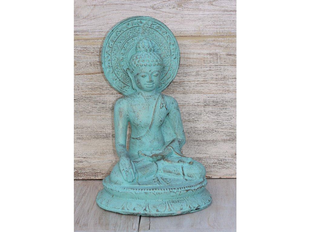 Socha Budha Buddha cakra 40cm patina TG