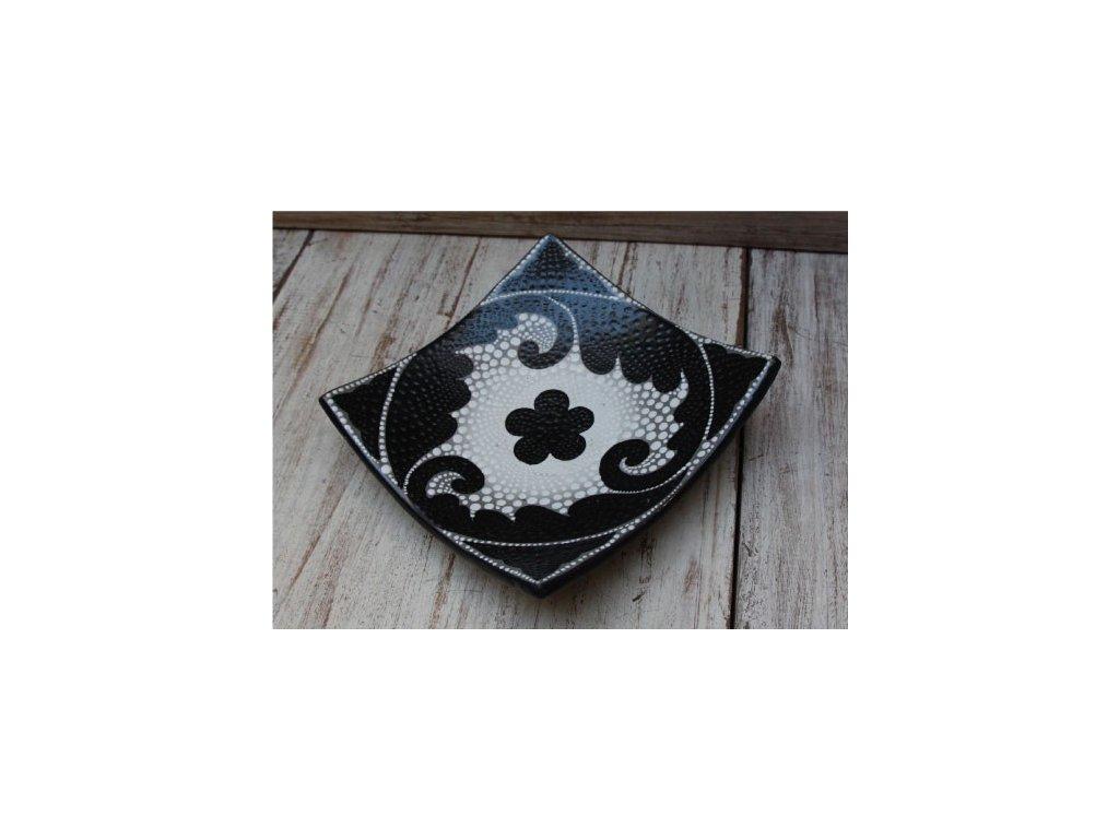 Mísa terakota 20x20cm černo-bílý