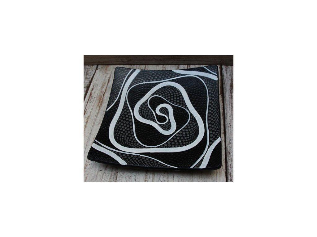 Mísa terakota 25x25cm abstrakt