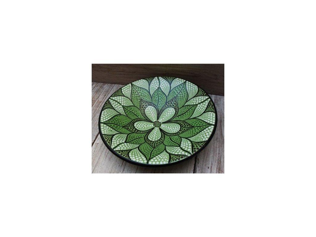 Mísa terakota průměr 20cm, 28cm, 37cm flower green