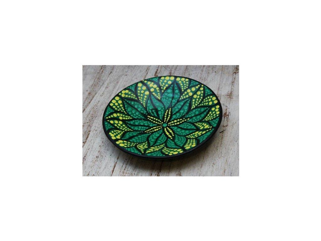 Mísa terakota průměr 15cm flower green