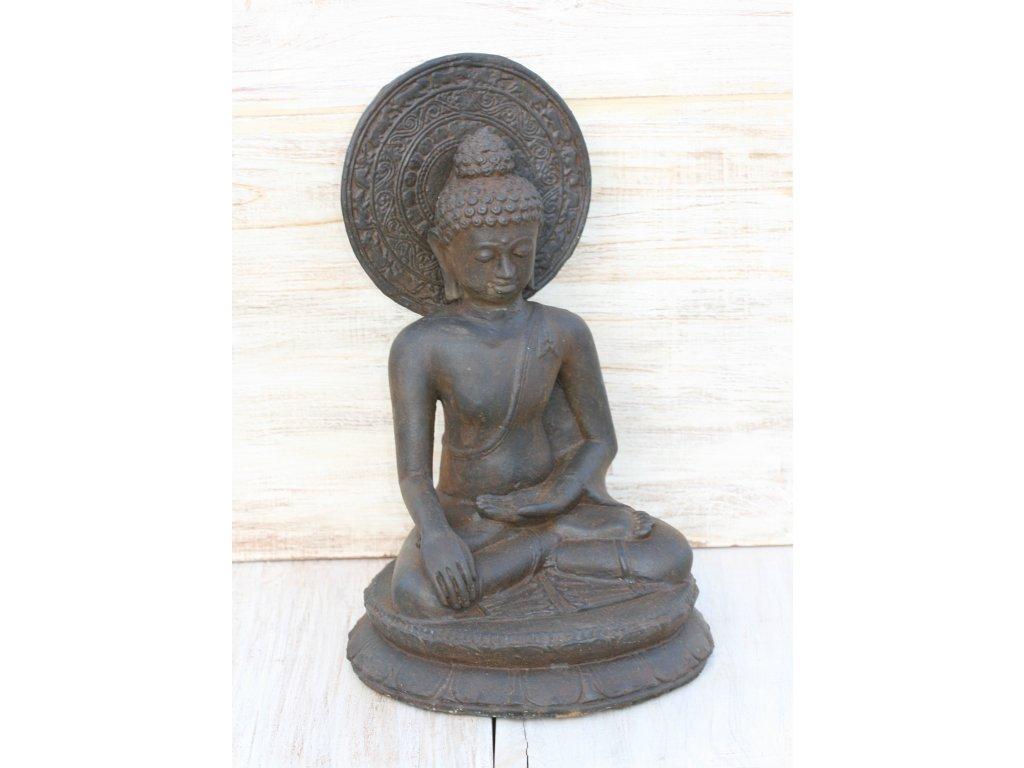Socha Budha Buddha cakra 40cm patina DB