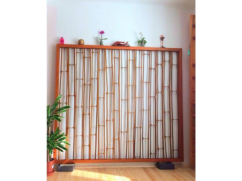 Dřevěný paravan 200x180x6cm