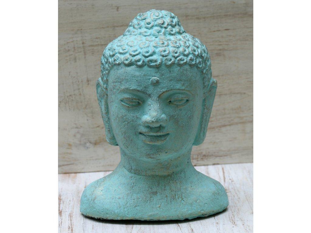 Socha Budha Buddha head torzo 30cm patina TG