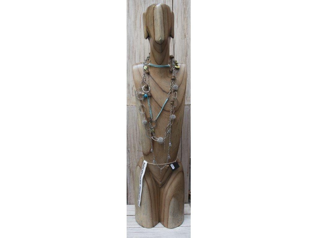 Dřevěné torzo - stojan na šperky, ručníky KP 100 cm