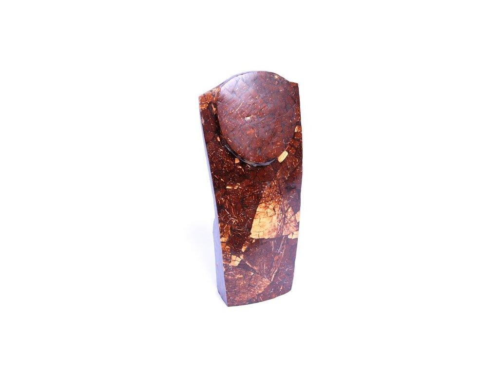 Dřevěný stojan - torzo na šperky KO 40cm vykládaný kokosem