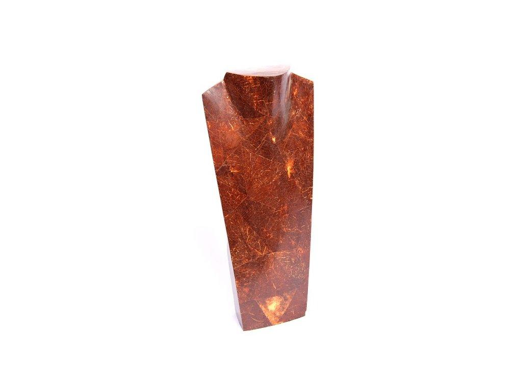 Dřevěný stojan - torzo na šperky KP 40cm vykládaný kokosem