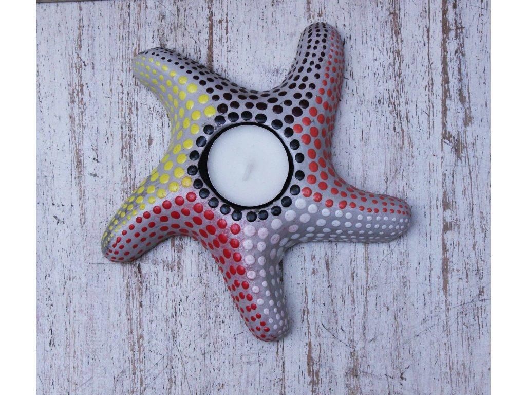 Stojánek - svícen na svíčky hvězda 16x16cm - model C