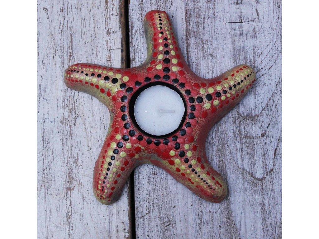 Stojánek - svícen na svíčky hvězda 16x16cm - model A