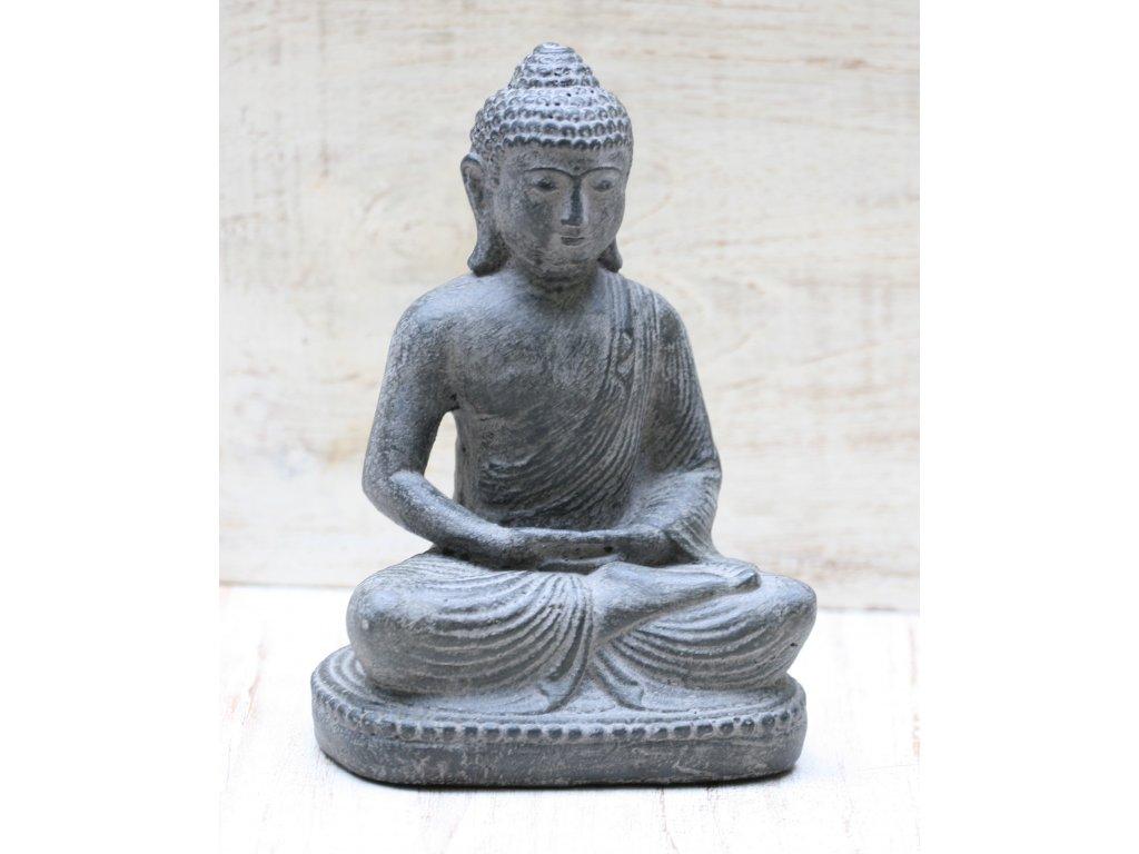 Socha Budha Buddha lotos  21cm patina DG