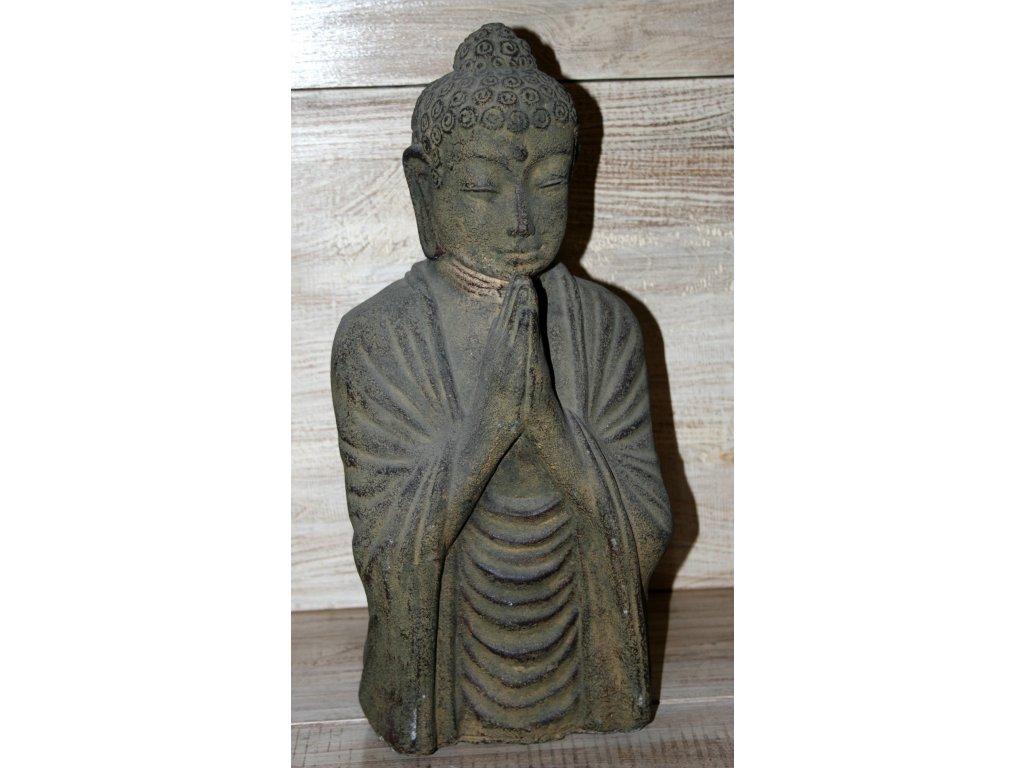Socha Budha Buddha  torzo 40cm patina BY
