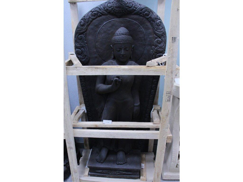 Socha Budha Buddha wall 130 cm patina DB