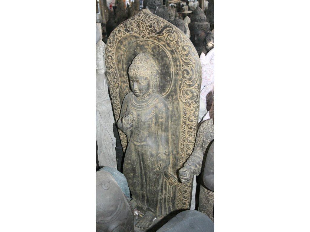 Socha Budha Buddha wall 130cm patina BY