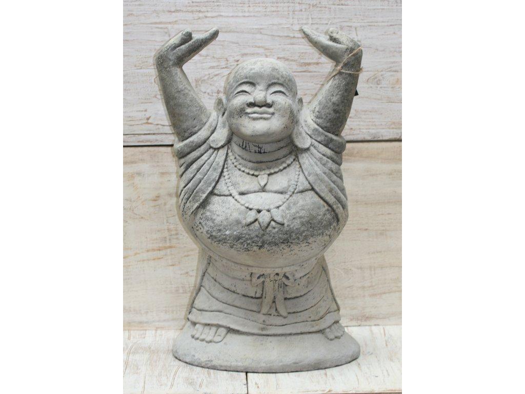Happy Budha Buddha 60cm patina GREY