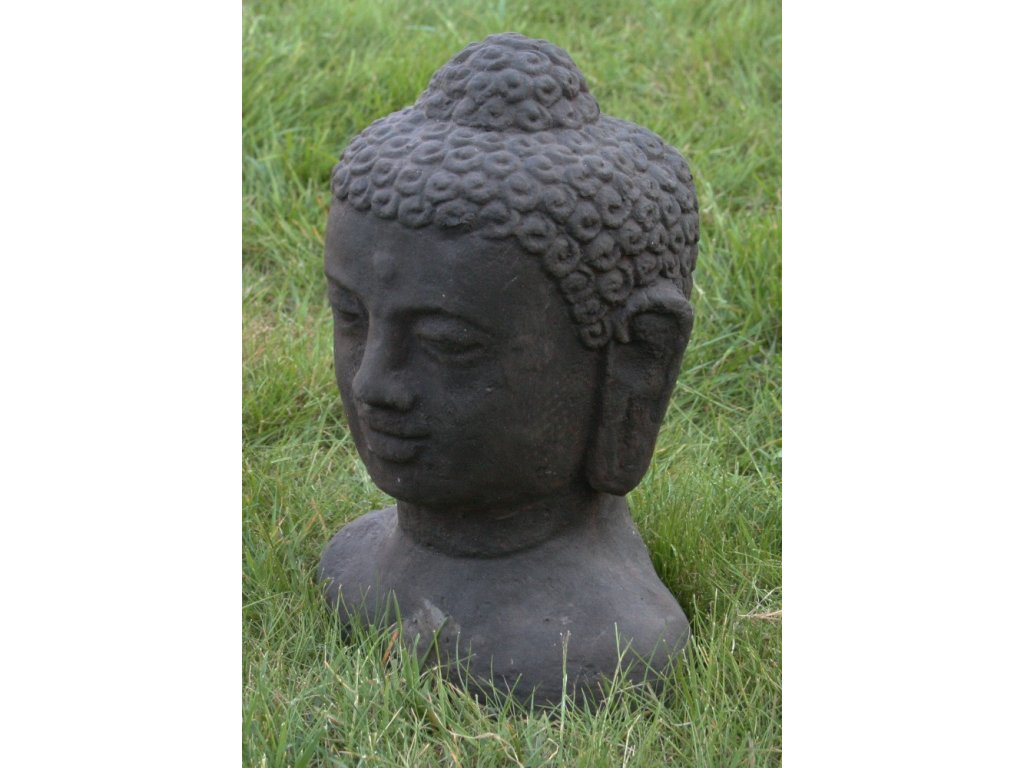 Socha Budha Buddha head torzo 30cm patina DB