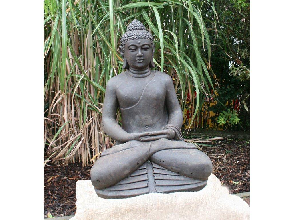 Socha Budha Buddha meditující 83cm patina DB