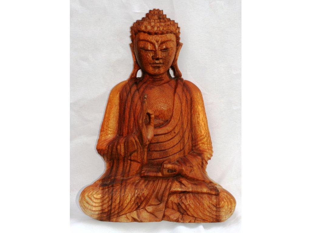 Socha Budha Buddha dřevořezba 30cm
